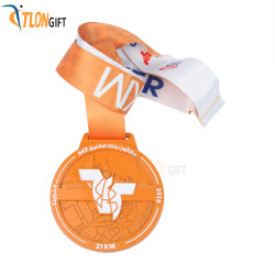 Simple Fashion Metal Craft Sport Medal of Running Honor Award