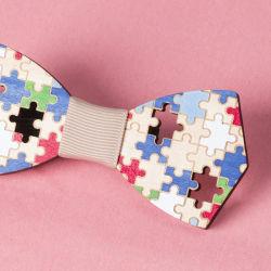 Semi, de nouveaux produits 2021 unique, la mode Puzzle en bois coloré Bow Liens pour les hommes à la main, d'affaires cadeau de mariage