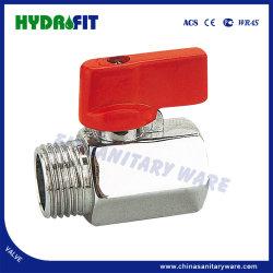 Sin MOQ Mini válvula de bola de latón, Rojo mango corto (MF16008)