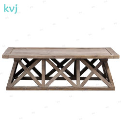 Vintage Antique Kvj-7334 rustique en bois massif Table à café