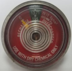 Manomètre de pression d'accessoires d'extincteur