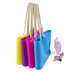 Un style simple sac fourre-tout sac à main coloré en silicone pour dame