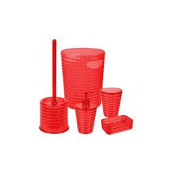Conjunto de acessórios de banho de plástico personalizada acessórios de banho Turco, Dispensador de sabão/suporte de escova de dentes/sabonetes prato/Trash Can
