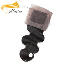 أعلى جودة إغلاق حرير الشعر العذراء لace الأمامية إغلاق