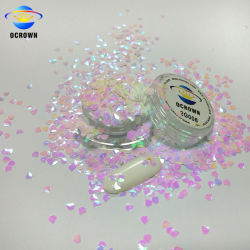 Гибридные квадратных 3D DIY ногтей, оптовая продажа оптовой Блестящие цветные лаки Diamond Glitters хлопья украшения