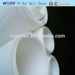 卓球の熱い溶解の接着剤シートのための熱のつま先のパフそして反対材料