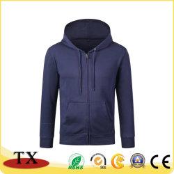 Pull Robe de coton de haute qualité couleur pure Hoody avec fermeture à glissière et de Hat