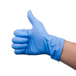 Guanti liberi di sicurezza del nitrile della polvere protettiva a gettare dell'esame