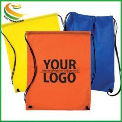 非編まれたカスタム安い袋最小のドローストリングの洗面用品袋の引くことストリングバックパック無し