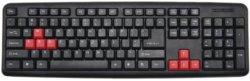 لوحة مفاتيح سلكية سوداء قياسية 104 لوحة مفاتيح
