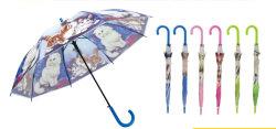 23''x8K long bâton ouvrir automatiquement le parapluie Poe avec des chats imprime