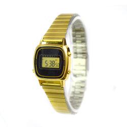 Commerce de gros cadeaux de promotion de l'horloge d'or en acier inoxydable Watch (CM19044)
