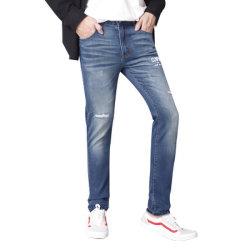 La moda Ripped Jeans en línea recta Tight-Fitting Pantalones Denim Jeans hombre talla Plus