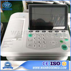 Los equipos médicos de ECG301 Digital portátil de la ICU de Canal 3 máquina de ECG en reposo