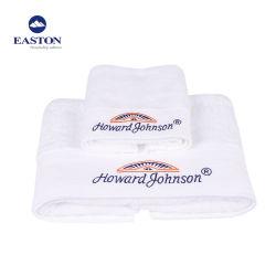 Custom Guest Serviettes de bain Salle de bains coton tissé des serviettes de plage avec logo