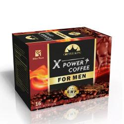 قهوة سوداء فورية مخصصة للرجال من فئة Maca ذات الملصق الخاص قهوة Male Vitality X Power طويلة الأمد