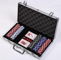100 200 300 500 Poker Custodia in alluminio per giocare Con schiuma EVA