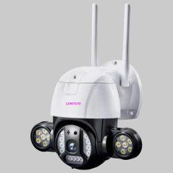 طراز جديد لشبكة WiFi كاميرا مزودة بقبة سرعة بكسل بدقة 5 ميجابكسل مزودة بـ 12 جهاز كمبيوتر شخصي LED ليلي إضاءة CCTV بث مباشر التحكم في التطبيقات الكاميرا