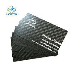 Mayorista de la fábrica de fibra de carbono de 3K personalizados Tarjetas de presentación de lujo con Logo