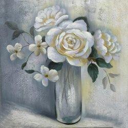 Moderne Blume mit Potenziometer-handgemachtem Ölgemälde stellt Knall-Kunst-Farbanstrich-Wand-Kunst-Dekoration dar