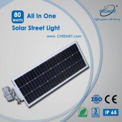 80W PIRセンサーの高い内腔LEDの太陽街灯LiFePO4電池