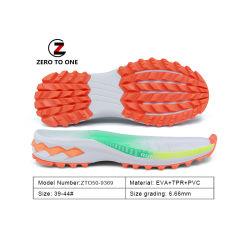 Neues Design EVA TPR PVC Sportschuh Sohle für Männer Neueste Sohlen Sneaker Schuhherstellung Customized Logo Service Druck Außensohle