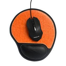 O logotipo personalizado não escorregar pu base de couro Tapete de rato suporte para o pulso tapete para rato