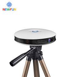 Xnewfun 2021 جهاز عرض جديد بدقة 4K ثلاثية الأبعاد في المنزل، تلفزيون 4K بشاشة بروجكتور صغيرة، جهاز عرض Vava بقدرة 6000 لومن