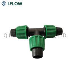 Appuyez sur le connecteur/raccord en T de l'irrigation en plastique Mini soupape d'irrigation agricole d'accouplement rapide