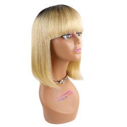 Las materias Unión 613 Rubia peluca Bobo alineados de la cutícula del cabello humano completo en HD frontal encaje peluca, Suiza Puntilla fina brasileño HD Bob peluca de cabello virgen