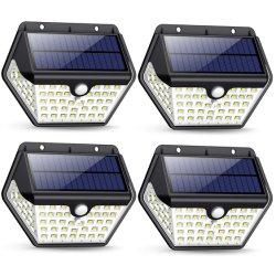 As lâmpadas de jardim moderna decorativa 60 LEDs alimentada a energia solar luz de parede LED