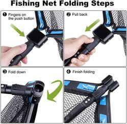 Vouwbaar visnet, visnet met rubbercoating