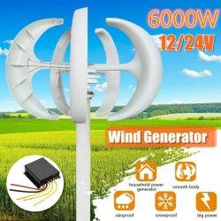 800W Generator 3/5 van de Turbines van de Macht van de Wind van 12/24/48 V de Optie van de Bladen van de Wind met het Waterdichte Controlemechanisme van de Last Geschikt voor Huis of het Kamperen