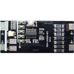 1s 10A PCM BMS لـ 3.6V Li-ion/Lithium/ Li-Polymer 3 فولت مجموعة بطارية LiFePO4 بقوة 3.2 فولت مع مصباح مؤشر LED مقاس L36*W7.5*T0.8مم (PCM-L01S10-071)