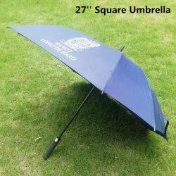 야외 프로모션 맞춤형 27′′ 레인 스트레이트 스퀘어 골프 우산