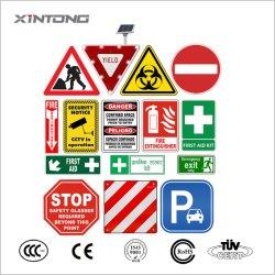 Benutzerdefinierte Aluminium-Verbundwerkstoff-Sicherheitswarnung Reflektierende Schilder Board Red Triangle Runder quadratischer LED-Verkehrsschild