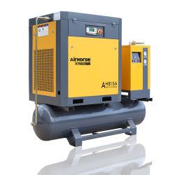 Deutschland Technologie Industrie Silent Ölfreier elektrischer Drehschneckenluftverdichter mit Trockner, Lufttank und Filtern