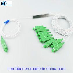 مقسم PLC ألياف بصرية منخفض الإدخال مع موصل Sc/APC