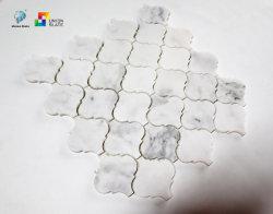 백색 혼합 색깔 벽과 지면을%s 훈장 부엌 그리고 침실을%s 불규칙한 도와 물 분출 모자이크 예술의 대리석 모자이크