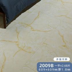 Commercieel zelfklevend Dry Back White Grey Black Marble Stone Tegelvloer van PVC LVT vinyl