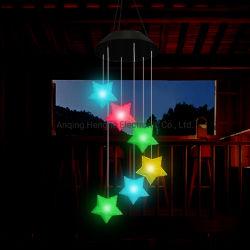 EVA Pentagram LED Solar Energy Panel PAR Sensor Flutwind Glocke Im Freien Wasserdicht Blumentopf Decke Street Tree Landscape Garden Dekoration Rasen Wachsen Licht