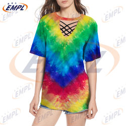 2020 Nueva imagen de la puesta de sol en 3D Diseño de camiseta de manga corta casual