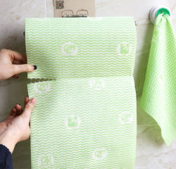 OEM MutlipurposeのNonwoven再使用可能なタオルの洗濯できる使い捨て可能な皿の布