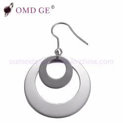 Dos de la calidad de titanio anillos de Bisutería pendientes