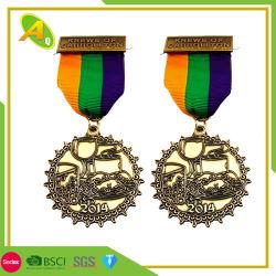 니켈 도금 칠보 금 사기질 금속 메달 (068)