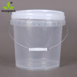 10L Food Grade напечатано пластиковые ведра ковша с крышкой и ручкой