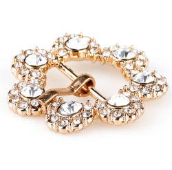 Nouveau Rhinestone Clips du caisson de fleur de perles en Cristal ovale classique sandale Ornements Boucles