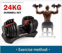 Reeks van de Oefening van de Gewichten van de Domoren van de Apparatuur van de Geschiktheid van de Gymnastiek van het huis 24kg (52.5lb) de Slimme Regelbare