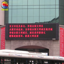 LED intérieur rouge signe le déplacement de messages texte