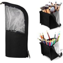 Portátil de alta capacidad de viajar stand-up maquillaje Portaescobillas conforman conjuntos de cepillos de caso de la bolsa de cosméticos